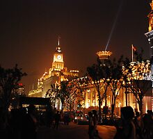 The Bund at Night, Shanghai, China by phototraveler