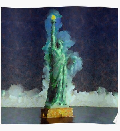 Liberty Stands Alone by Sarah Kirk Poster