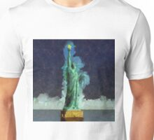 Liberty Stands Alone by Sarah Kirk Unisex T-Shirt