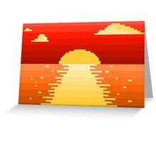 Pixel Setting Sun Greeting Card