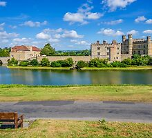 Leeds Castle Bench View 2 by Chris Thaxter