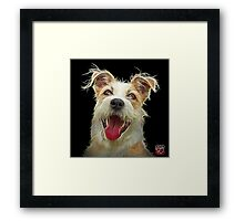 Terrier Mix dog art 2989 - BB Framed Print