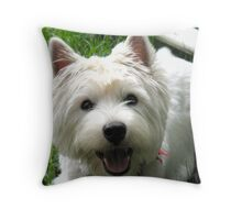 Gray skies are going to clear up! Throw Pillow