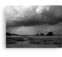Storm Clouds are Gathering Suffolk B&W Canvas Print
