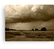 Storm Clouds are Gathering Suffolk Sepia Canvas Print