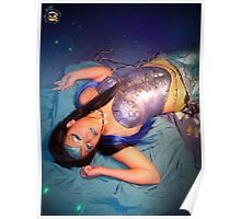 Mermaid Body Paint - Laying Down - Joanna Plant Poster