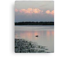 Sunset in Nes aan de amstel Canvas Print