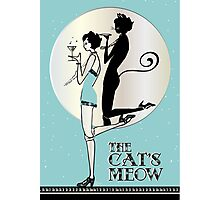 Gatsby Girl Flapper The Cat's Meow (blue and silver) Photographic Print