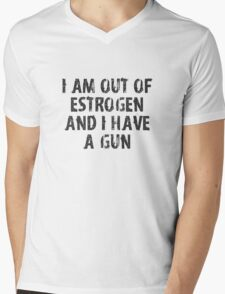 378 Have a Gun Mens V-Neck T-Shirt