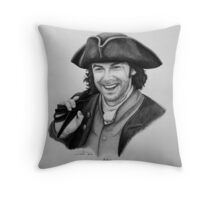 Aidan Turner as Ross Poldark - Portrait Throw Pillow