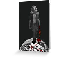 Clarke Griffin - Ruler of earth Greeting Card