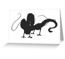 Haku's Dragon Form Greeting Card