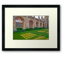 Cambridge, Late Spring 19 Framed Print