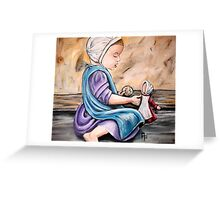 Amish Child at Play Greeting Card