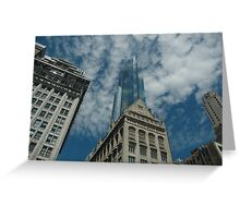 see through sky scraper Greeting Card
