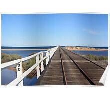 59, 60, 61... Counting posts on One Mile Jetty, Carnarvon Poster
