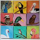 Nine birds - oil paintings by Kathryn Steel