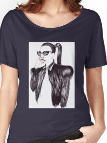 Lady In Black Women's Relaxed Fit T-Shirt