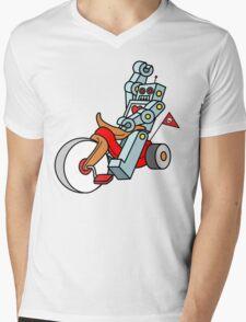 hot wheeling robot love Mens V-Neck T-Shirt