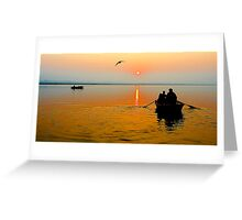 Sunrise in Varanasi Greeting Card