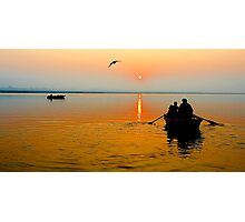 Sunrise in Varanasi Photographic Print