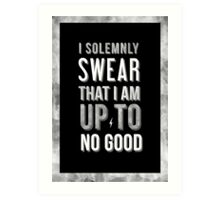 Harry Potter Solemnly Swear Art Print