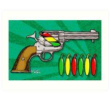 Chili POW POW!! ( Verde ) Art Print