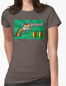 Chili POW POW!! ( Verde ) Womens Fitted T-Shirt
