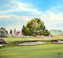Sunningdale Golf Club 18th Green and Clubhouse by bill holkham