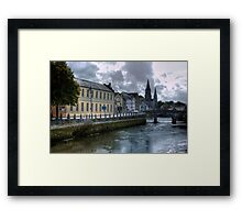 View of the Canal - Cork, Ireland Framed Print