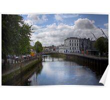 View from a Bridge - Cork, Ireland Poster