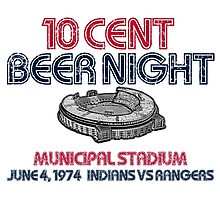 10 Cent Beer Night Photographic Print