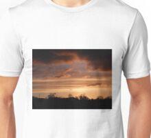 Winter Sky Burn  Under  Limavady Sky Co. Derry, Ireland Unisex T-Shirt