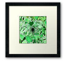 ( BIANCA AS  GREEN EYES )   ERIC WHITEMAN ART  Framed Print