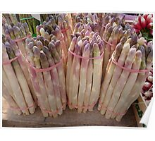 White Asparagus at Market in France Poster