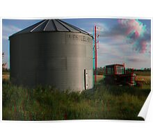 [3D] Grain Bin and Old Tractor Poster