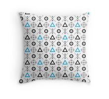 Triangle Print - Blue Throw Pillow