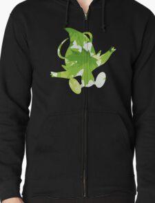 Celebi used leaf storm Zipped Hoodie