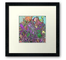 (ANGER OCEAN  )   ERIC  WHITEMAN  ART Framed Print