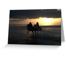 Racing to the sun Greeting Card