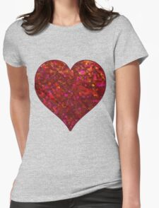 Sparkley Grunge Relief Background Womens Fitted T-Shirt