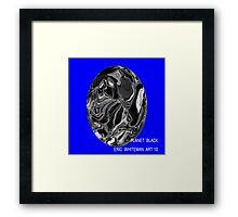 ( PLANET  BLACK ) ERIC WHITEMAN ART  Framed Print