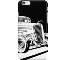 1934 Ford Tudor Sedan Hotrod - Inked iPhone Case/Skin