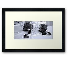 the bride and groom's flowers Framed Print