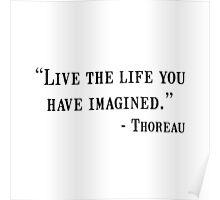 Thoreau Quote Poster