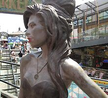 Amy Winehouse Statue (1), Stables Market, Camden, London by MagsWilliamson