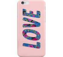 """""""LOVE"""" Rose Floral Typography iPhone Case/Skin"""