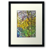 Yellow & Green Abstract Framed Print