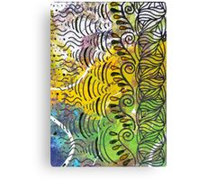 Yellow & Green Abstract Canvas Print