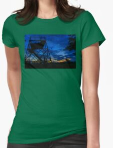 Observation Dusk Womens Fitted T-Shirt